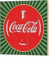 Coca Cola Pop Art  Wood Print