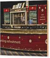 Coca Cola Refreshment Stand Wood Print