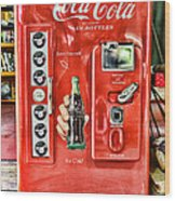 Coca-cola Retro Style Wood Print