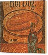 Coca Cola Rusty Sign Wood Print
