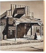 Coca Cola Shack Wood Print