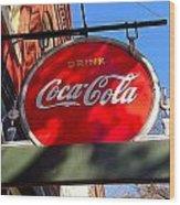 Coca Cola Sign In Georgia Wood Print
