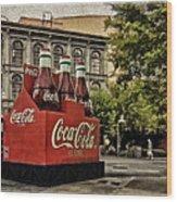 Coca-cola Wood Print by Wayne Gill