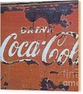 Cocacola Ice Box Wood Print
