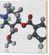 Cocaine Molecular Model Wood Print