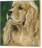 Cocker Spaniel Dog Wood Print by Alice Leggett