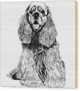 Cocker Spaniel Puppy Wood Print