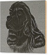 Cocker Spaniel Wood Print