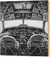 cockpit of a DC3 Dakota Wood Print