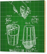 Cocktail Mixer And Strainer Patent 1902 - Green Wood Print