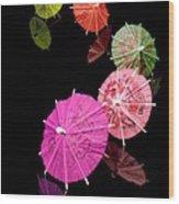 Cocktail Umbrellas Xii Wood Print
