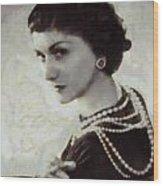 Coco Chanel Wood Print