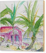 Coco Plum Wood Print