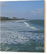 Cocoa Beach Seascape Wood Print