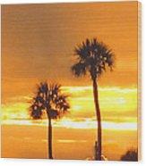 Cocoa Beach Sunset Wood Print