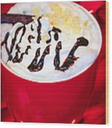 Cocoa Java Coconut Bliss Wood Print