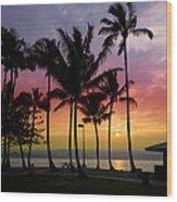 Coconut Island Sunset - Hawaii Wood Print