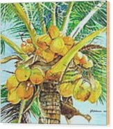Coconut Series II Wood Print