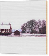Codori Farm At Gettysburg In Winter Wood Print