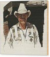 Cody Cowboy 2 Wood Print