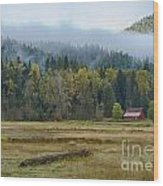Coeur D Alene River Farm Wood Print by Idaho Scenic Images Linda Lantzy