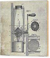 Coffee Mill Patent 1893 Wood Print