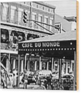 Coffee And Beignets Wood Print