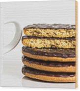 Coffee And Cookies. Wood Print