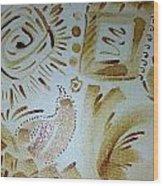Coffee Art Wood Print