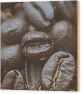 Coffee Bean Macro Wood Print