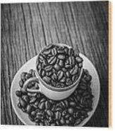 Coffee Beans Wood Print