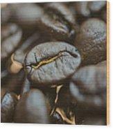 Coffee Beans Macro 3 Wood Print