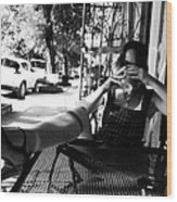 Coffee Break New Orleans Style Wood Print