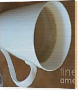 Coffee Cup 01 Wood Print by Bobby Mandal