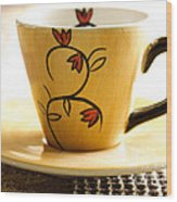 Coffee Cup Wood Print