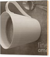 Coffee Cup Wood Print by Bobby Mandal