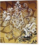 Coffee Flowers 10 Calypso Wood Print