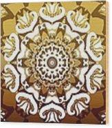Coffee Flowers 10 Calypso Ornate Medallion Wood Print