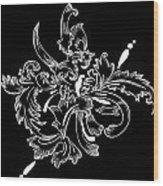 Coffee Flowers 11 Bw Wood Print