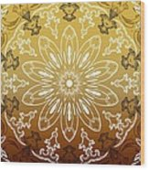 Coffee Flowers 11 Calypso Ornate Medallion Wood Print