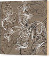 Coffee Flowers 2 Wood Print
