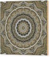 Coffee Flowers 2 Ornate Medallion Olive Wood Print