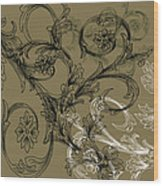 Coffee Flowers 3 Olive Wood Print