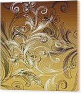 Coffee Flowers 4 Calypso Wood Print