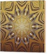 Coffee Flowers 4 Calypso Ornate Medallion Wood Print