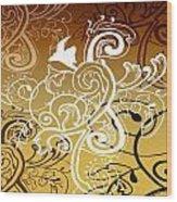 Coffee Flowers 5 Calypso Wood Print