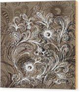 Coffee Flowers 6  Wood Print
