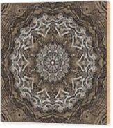 Coffee Flowers 6 Ornate Medallion Wood Print
