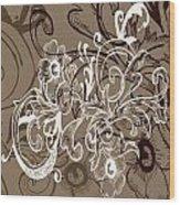 Coffee Flowers 7 Wood Print