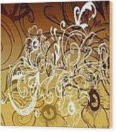 Coffee Flowers 7 Calypso Wood Print
